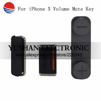 Original new Power On/off+Mute Silent Key+Volume Key Button For iPhone 5G Mute Silent Key Free Shipping
