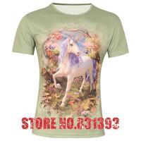 New 2014 Top Fasion Plus Size Influx Of Shortcolor God Horse PrintingSlim Short-sleeved 3d T Shirt Men Men's Clothing