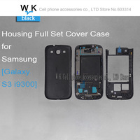 Black colour Original Replacement Parts for samsung galaxy S3 i9300 housing full set Cover Carcase case S3 Accessories