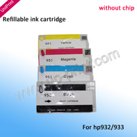 NEW Refillable Cartridge kit for HP 932 933 XL OfficeJet Pro 6100 6600 6700  7110  7610 drop shipping