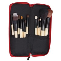 15 pcs Soft Synthetic Hair make up tools kit Cosmetic Beauty Makeup Brush Sets with Leather Case 84713
