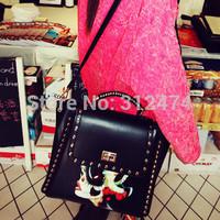 Women leather bag shoulder bag messenger bag free shipping