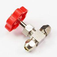Tube OD 6mm Nickel-Plated Brass Swagelok Plug Needle Valve