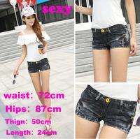 new 2014 women shorts jeans saia feminino hole sexy jeans shorts women fashion high waist denim shorts high waisted short saias