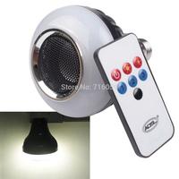 LED Bluetooth Speaker Bulb With Stage Lighting E27 Base 5W RGB Adjustable  Brightness Light Lamp With Remoter 33 85-260V