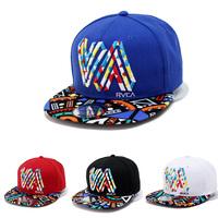Free Shipping New Fashion 5 Panel hat RVCA Snapback hats for men women Double V Hip Hop cap tennis gorras Baseball Cap