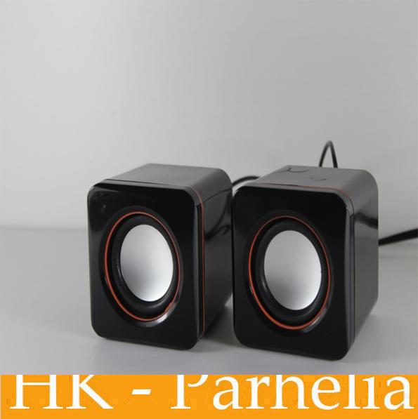 New 2014 USB Portable mini stereo Speaker for laptop notebook tablet PC Desktop Loudspeaker sound box music audio Speaker(China (Mainland))