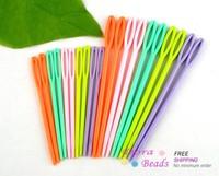 "20Pcs  2 3/4\"" 3 3/4\"""" Multicolor Plastic Sewing Needles"" (800086)"