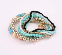 YXSP4516      2014 new fashion  Mixing fashion multilayer beads stretch   Bracelets for women