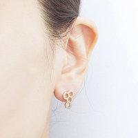 gold silver tiny hexagon Honeycomb modern royal jelly earring