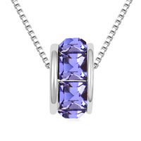 Fortunately beads crystal necklace & round crystal spacer bead for European CHARM necklace  - Purple Pendant crystal pendant