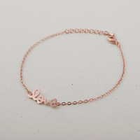 2014 New Arrival Fashion LOVE Bracelet in Silver/Gold/Rose Gold 30pcs/lot Best Gift Free Shipping Drop Shipping