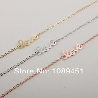 2014 New Arrival Fashion LOVE Bracelet in Silver/Gold/Rose Gold 30pcs/lot Best Gift Free Shipping Drop Shipping#05