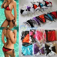 Hot Women Lace Bra Swimsuit Bathing Suit Swimwears Beach Bikini Set #57413