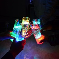 400ml LED Long Drink Glass ,flashing led cup