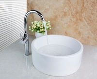 TD301192465 Gourd Artistic Wash Basin Counter Hand Paint Color Washbasin Ceramic Sink Brass Mixer Tap Faucet Basin