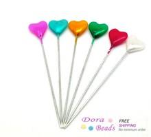 "Mixed Heart Craft Sewing Pins 5.5cm(2-1/8""), Knitting Needles,sold per packet of 5 cases(5x30pcs) (B16086)(China (Mainland))"