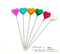 """Mixed Heart Craft Sewing Pins 5.5cm(2-1/8""""), Knitting Needles,sold per packet of 5 cases(5x30pcs) (B16086)"""