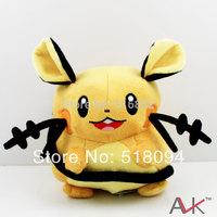 "1pcs Free Shipping Anime Cartoon Pokemon Dedenne Plush Toys Pocket Monster Soft Stuffed Animal Doll 7"" 17cm PKPD198"