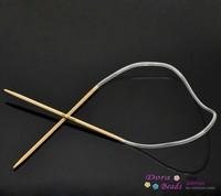 1Pair Bamboo 40cm Circular Knitting Needle(2.5mm) (830098)