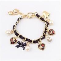 YXSP4525     2014 new fashion   Fashion braided bow love pearl    Bracelets for women
