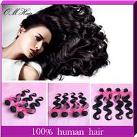 5pcs/lot Brazilian Virgin Hair Body Wave Unprocessed Wavy Human Hair No Shedding No Tangling  60g/pc 8''-28'' Black Color#1B