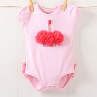 Cute Kids Baby Girls Pink Bodysuit Princess Dress One-piece Romper Jumpsuit 0-3Y  Free &Drop shipping