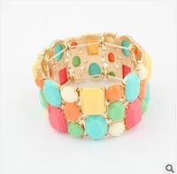2014 New Europe White Ruili Bracelet for Woman Colorful Stretch Bracelets Fashion Black Jewelry