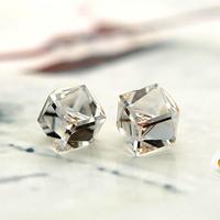2014 Real Direct Selling Trendy Women Brincos Stud Earrings Crystal Colorful Stud Earring Accessories Anti-allergic Earrings