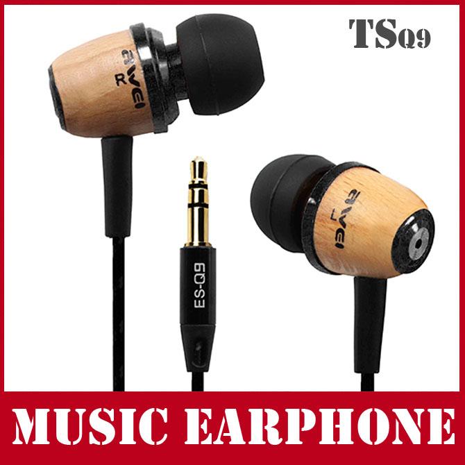 Brand Earphone Q9 Super Bass Noise Isolation In Ear Metal Music Headphone 3.5mm plug(China (Mainland))