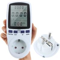 EU Plug Power Watt Volt Amp Energy Meter Analyzer with Power Factor High Quality Hot Sale#HK454