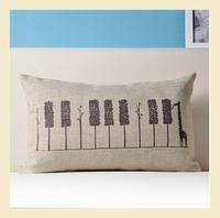 Giraffes and Piano woods Cotton Linen Pillow Case Ikea Nap Pillow Creative Lumbar Pad Fashion Cushion Covers 30*50CM A6220 A.A