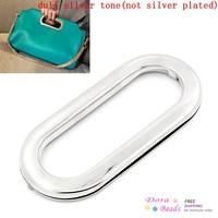 Purse/Handbags Insertion Component Metal Oval Handle Silver Tone 10.9x5.2cm,10PCs (B25286)