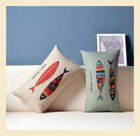 Nordic style Cotton Linen Pillow Case Ikea Nap Pillow Creative Lumbar Pad Fashion Cushion Covers 30*50cm  C6241 A.A