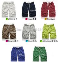New Summer Dress 2014 Fashion Men's Bermuda Beach Short Pants,Mens Multicolor Straight Casual Loose Boardshorts 8color  CMR68