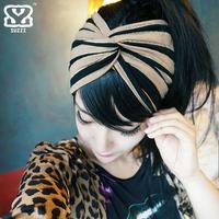 Suzzi 100% women's cotton elastic hair band fashion vintage bandanas fashion hair bands accessories
