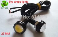 2x 1.5W waterproof LED angle eye light 23mm  led daytime running light led car reversing lighs +1M wire