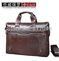 Hot sale!! New Genuine Leather Men Bag Briefcase Handbag Men Shoulder Bag phoneBag,free shipping