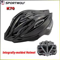 2014 SPORTWOLF K70 Road Bike Bicycle Cycling Helmet EPS Material Ultralight Men's Bike Helmet 19 Air Vents SIZE:54-60 cm Black