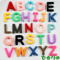Free shipping 26 Alphabet Fridge Magnets High quality Jelly Color Rubber Magnets Colorful Fridge Sticker Gifts For Kids