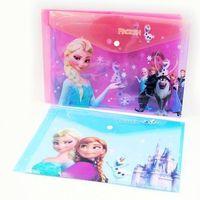 Free Shipping 24pcs/lot FROZEN Romance snow treasure adventure Snow Queen file bags A4 paper folder