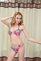2014 new brand sexy bikini swimwear wild sexy leopard bikini swimsuit ultimate seduction swimwear women Free Shipping DST-0505