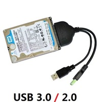 """100pcs High-speed transmission USB 3.0 to SATA 22Pin 2.5"""" Hard Disk Driver Adapter Data Cable 5Gb/Sec Max Easy to drive cable"""