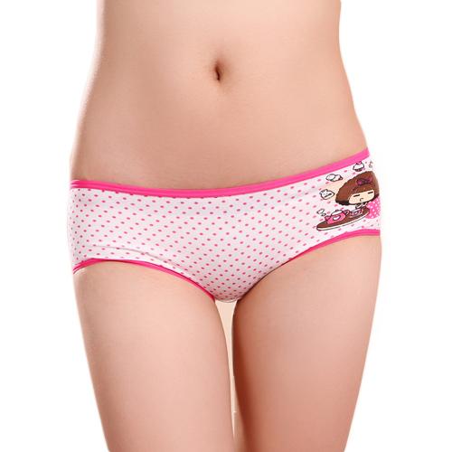 low waist cute cotton polka dot underwear panties briefs for children ...