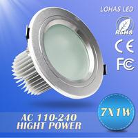 1pcs Hot sale! 3W/5W/7W/12W recessed led downlight,AC110V/120v/220v/240v,CE&ROHS,LED Ceiling down light Cold white/Warm white