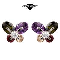 Joyme  2014 New design multicolor Earrings charn 4 leaves of grass earrings for women wedding jewelry