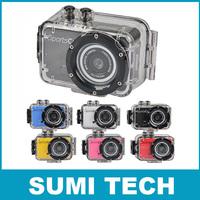 Compact size Waterproof sport cam camera DVR Water sport camcorder HD 720P Gopro Style mini DV  Mini DV 120 Wide Angle