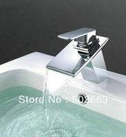 Bathroom Basin Sink Waterfall Spout Mixer Tap Chrome Faucet Vanity Faucet YS-5174