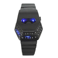 10pcs/lot high quality novelty item design snake head watch led watches led digital  army military watch blue/red led