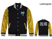 New fashion BLVD Jackets men gold/black leather sleeve top outerwears 6 styles sportswears Free Shipping Size S-XXXL